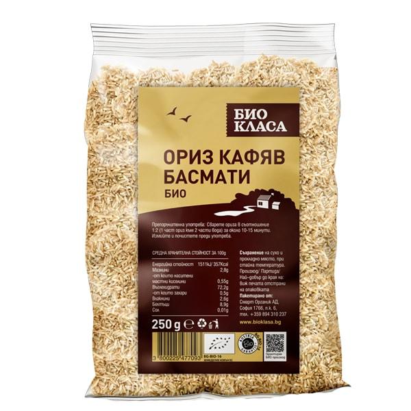 Ориз басмати кафяв 250g
