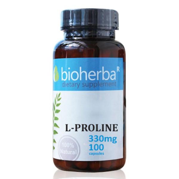 Л-Пролин на капсули 330 мг. 100 капсули