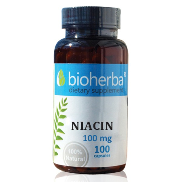 Ниацин (Витамин B3) 100 мг.100 капсули