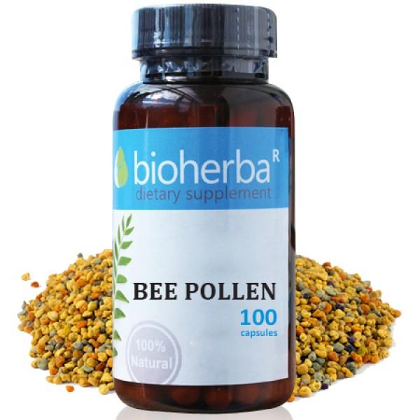 Пчелен прашец на капсули 400 мг. 100 капсули