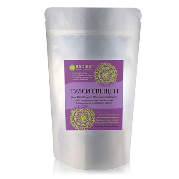 Тулси (свещен босилек) на прах за коса и лице , 100 г