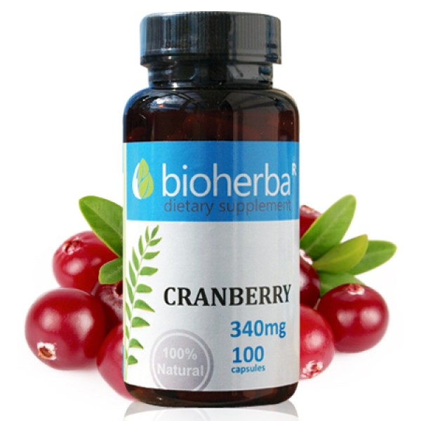 Червена боровинка на капсули 340 мг. 100 капсули