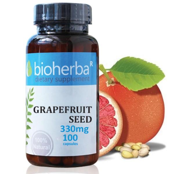 Eкстракт от семена на грейпфрут на капсули 330 мг. 100 капсули
