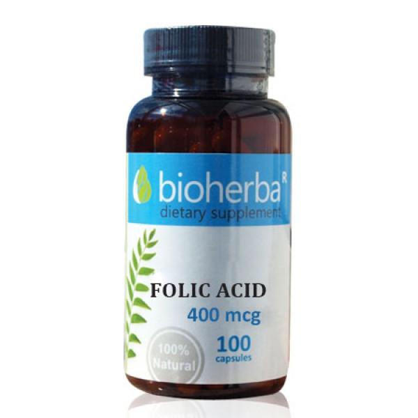 Фолиева киселина 400 mcg, 100 капсули