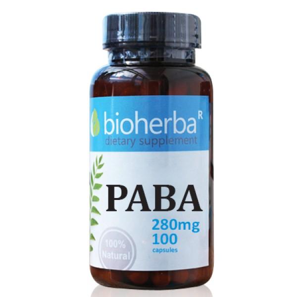 Паба (Парааминобензоена киселина) на капсули 280 мг.100 капсули