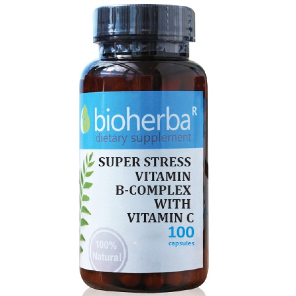 Супер стрес B-комплекс с витамин C на капсули , 100 капсули