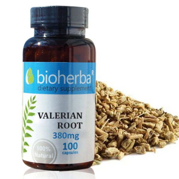 Валериана корен на капсули 380 мг. 100 капсули
