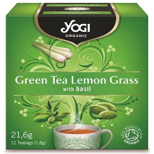 Чай зелен чай и лимонена трева 12 пак. 21,6g