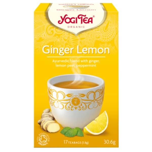 Йоги чай Джинджифил и лимон 17 пак. 30,6g