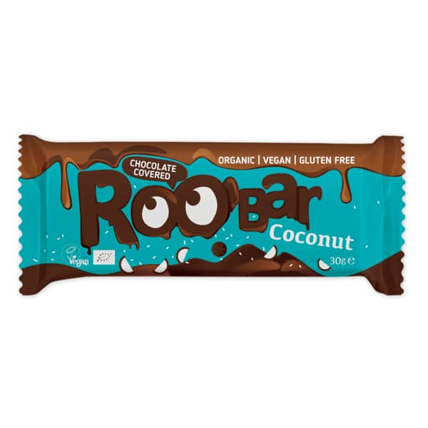 Roobar кокосов бар покрит с шоколад 30g