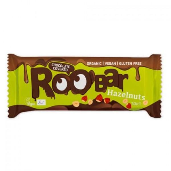 Roobar лешников бар покрит с шоколад 30g