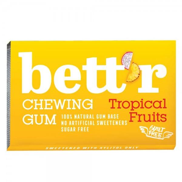 Дъвки без захар с ксилитол Tropical fruits 17g