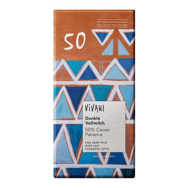 Тъмен млечен шоколад 50% какао 80g