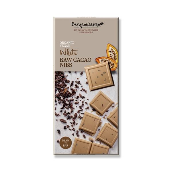 Шоколад Суров какао нибс (Бял) 70g