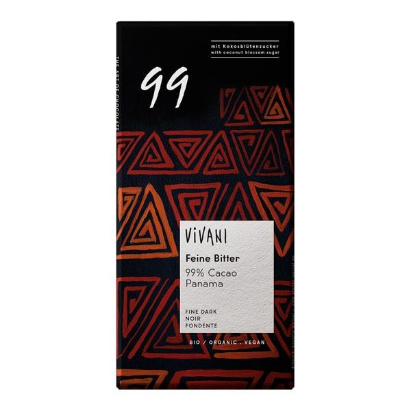 Шоколад фин натурален 99% панамско какао 80g
