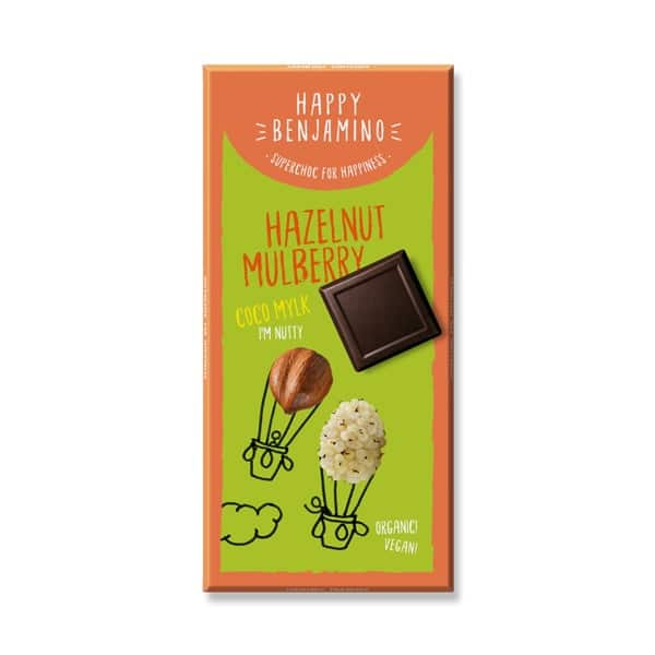 Шоколад Лешник и черница (Кокосово мляко) 70g