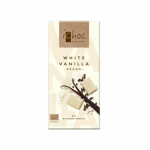 Шоколад бял с ванилия ВЕГАН 80g iChoc