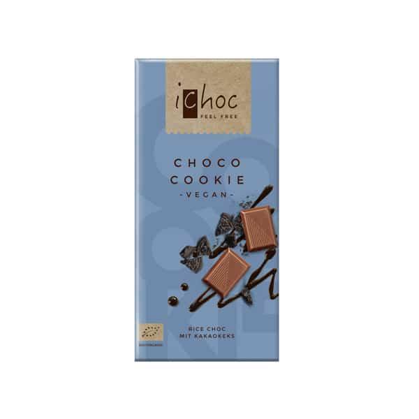 Шоколад с шоколадови бисквитки ВЕГАН 80g iChoc