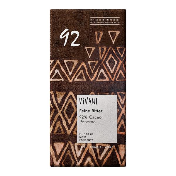 Шоколад фин натурален 92% панамско какао 80g
