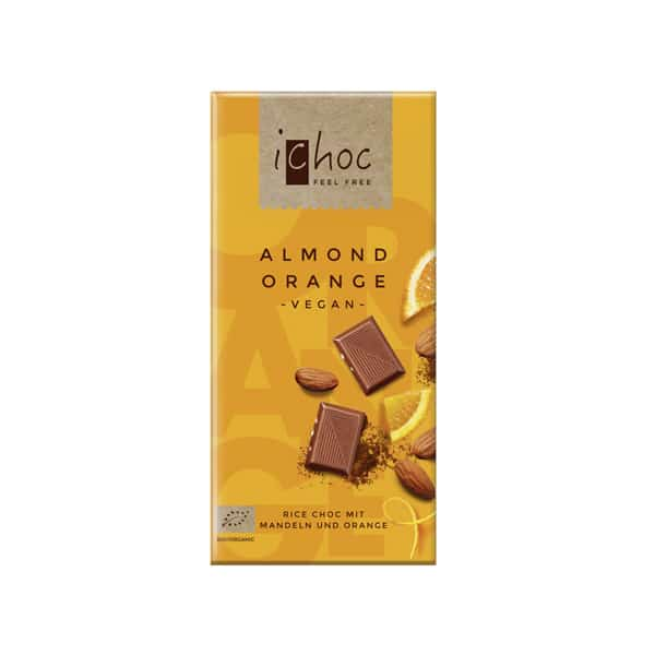Шоколад портокал и бадем ВЕГАН 80g iChoc