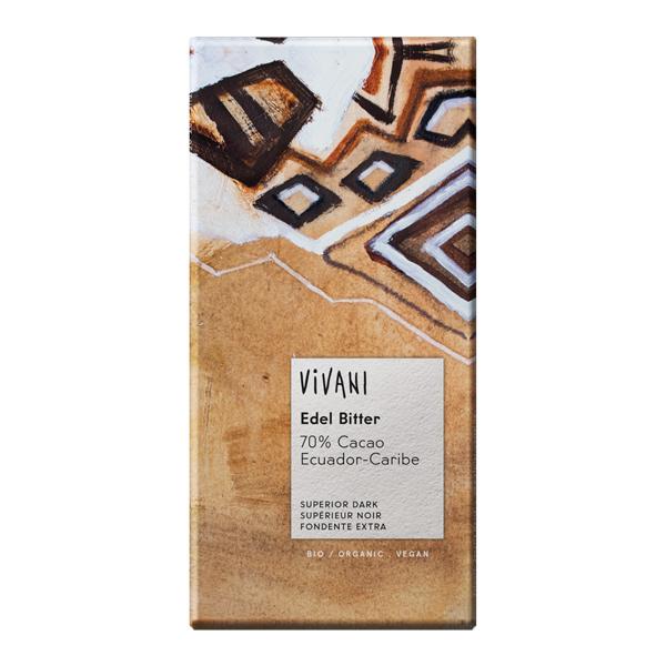 Шоколад фин натурален 70% какао 100g