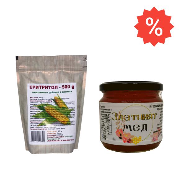 Промо пакет Еритритол и Златен мед
